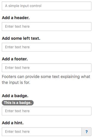 Input Bootstrap Nsb App Studio
