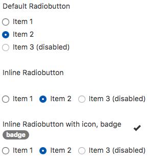 Radiobutton (Bootstrap) - NSB App Studio